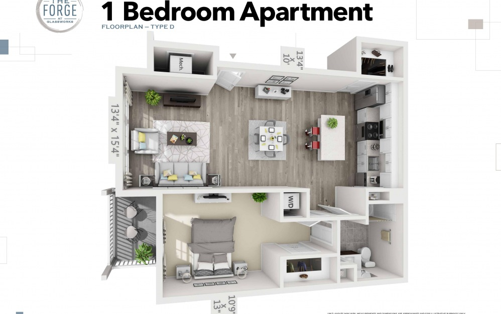 One Bedroom Type D